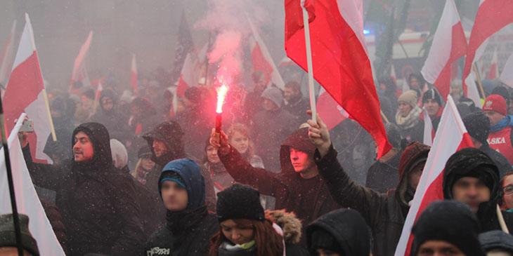 Marsz Niepodległości, 11 listopada 2016 r. w Warszawie.