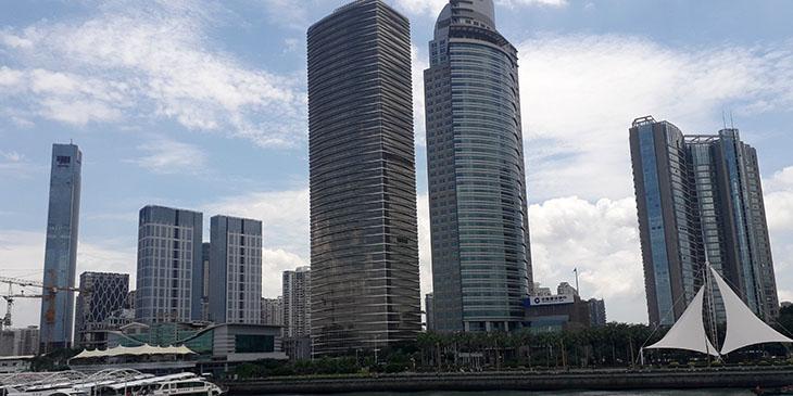 Imponujące wieżowce Xiamen