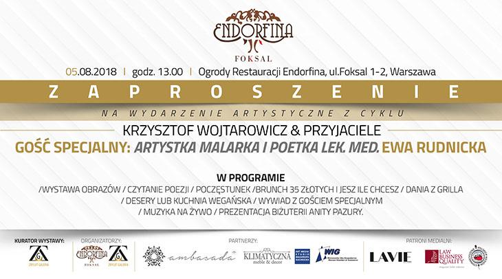 Zaproszenie na spotkanie autorskie z artystką, malarką i poetką Ewą Rudnicką