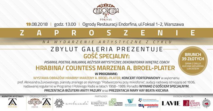 Zaproszenie na spotkanie autorskie z Countess Marzeną A. Broel-Plater