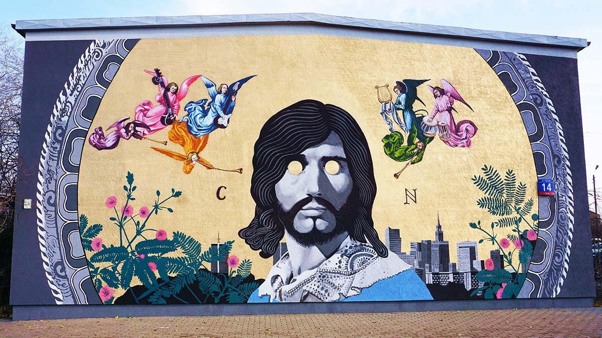 Mural warszawskiego artysty Bruno Althamera