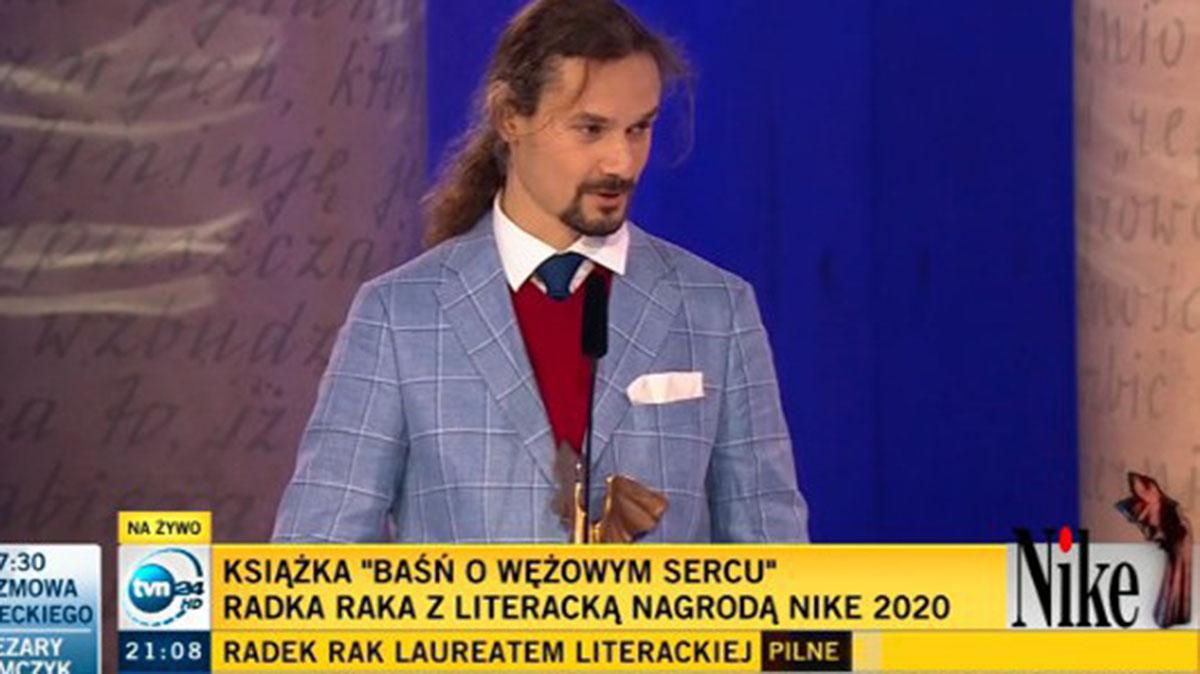 Zwycięzcą 24. edycji Nagrody Literackiej Nike został Radek Rak