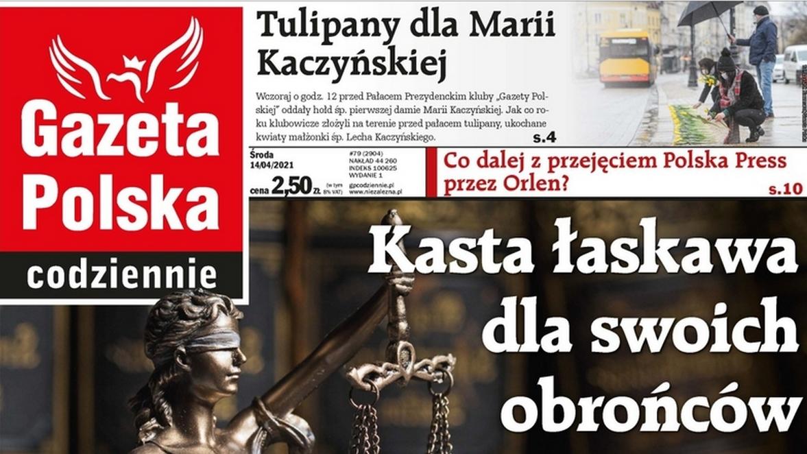 """Okładka """"Gazety Polskiej Codziennie"""""""