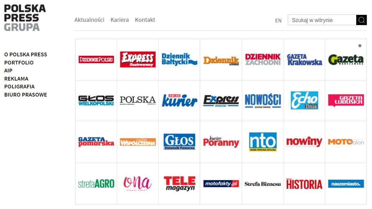 Strona internetowa polska Press