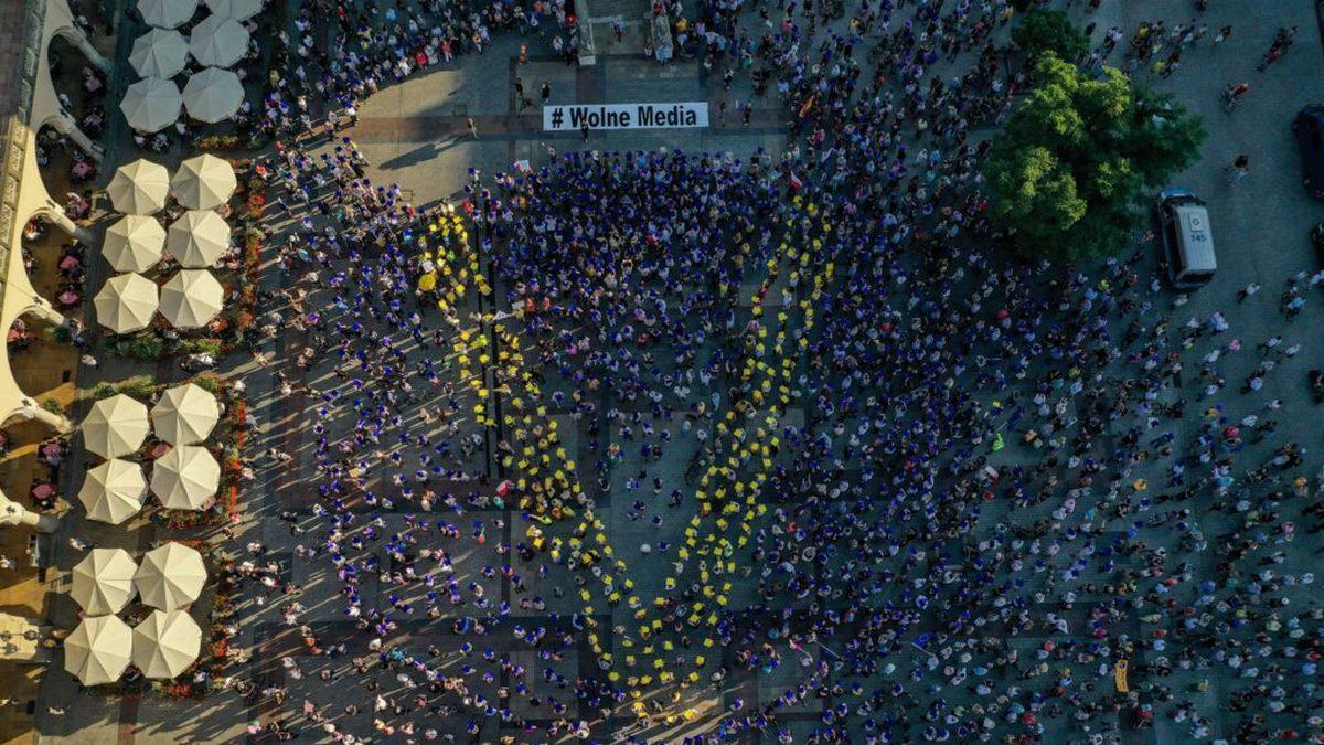 Protest przeciw lex TVN