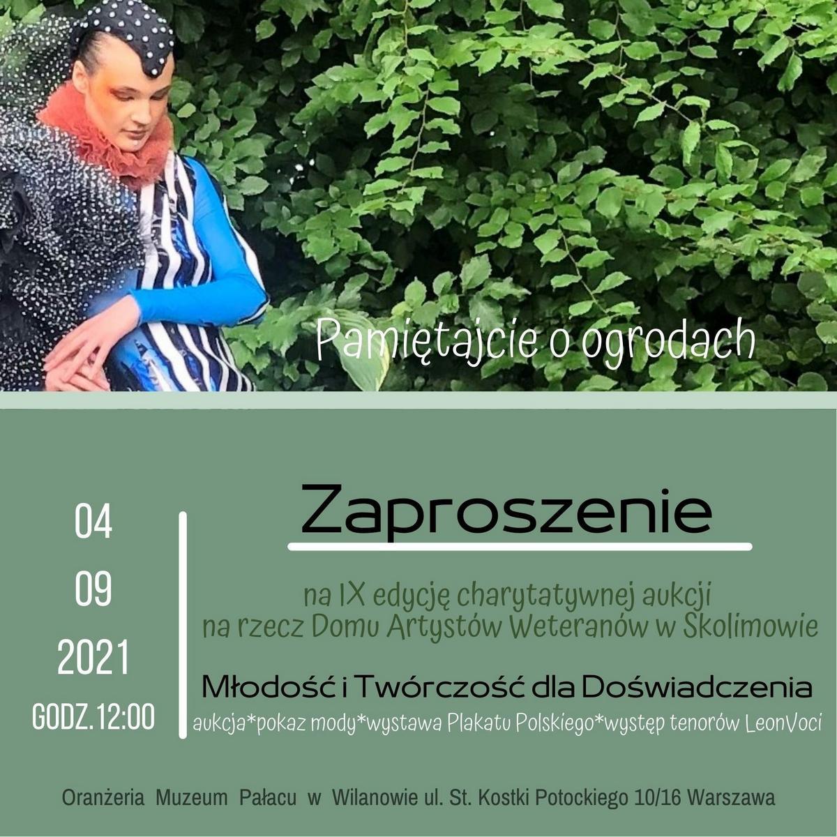 Pamiętajcie o ogrodach - IX edycja akcji charytatywnej dla artystów ze Skolimowa
